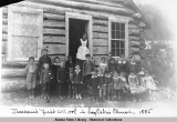 Juneau's first school in Log Cabin Church, 1885.