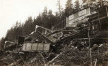 [Alaska Gastineau Mining Company railroad and mine cars destroyed by involuntary explosion located...