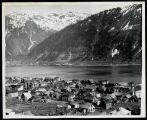 [View of Douglas town with Juneau across the channel in the background.]
