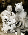 [Mary Joyce portrait with dogs.]