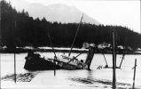 Wreck of Admiral Evans.  Hawk Inlet, Alaska.  March 9, 1918.