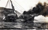 S.S. Bertha Burned at Uyak, Alaska, July 18, 1915.