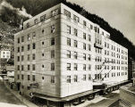 Juneau, Alaska [Close-up of Baranof Hotel.]