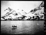 Verso: Landing mail and passengers from SS JAMES DOLLAR at Fort Liscum, Valdez Bay.