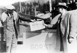 Ketchikan Mayor busy receiving the first airmail.