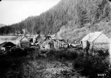 Chenega, Prince William Sound, Alaska [overall view of village].  October 1904.