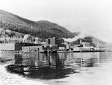[View of Ketchikan Pulp Co. mill from the water.]