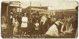 Ladies Ball Throwing Contest, Long, Alaska, July 4, 1917, Clemons Photo.