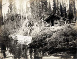 Fordiree (?) and Porterfield cabin, Kubuck (Kubuk) River [exterior view].
