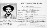 [Albert Pedersen Water Front Pass, 1918.]