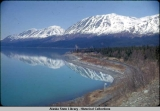Looking Northwest from Lawing along Kenai Lake.  Seward Highway, May 1961.