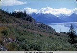 Road along Turnagain Arm, very close to Girdwood, 1961