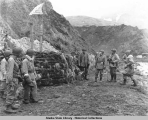 General Buckner's inspection tour of Attu, 2 June 1943.