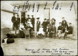 Group of Army and customs officers at Eagle, 1904.