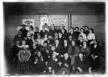 Group of Army and customs officers at Eagle Alaska (Fort Egbert) with other citizens of the...
