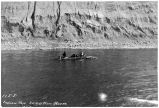 Indian Raft, 30 Mile River, Alaska, Indians traveling, 1907.