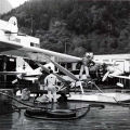 Bellanca NC 196 N being refueled at Juneau.