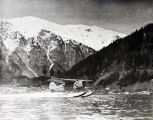NC-974H takes off at Juneau. Pilot Meyring 1934.