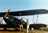 Foster and Ruth Lane with their OX 5 powered WACO.