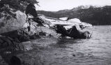 """Patco"" after blown away in storm Kimshan Cove, March 1935."