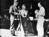 Will Rogers, Wiley Post, and Chief mechanic of Northwest Air Service  Walt Burrington.