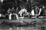 Camp at Tustimena Lake Alaska; John Outland & Party, 1919.