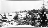 [View of town from above the cannery, wintertime.]