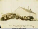 The most Northerly Public School House in the United States.  Cape Prince of  Wales, Alaska, 1929.