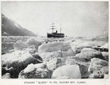 "Steamer ""Queen"" in ice, Glacier Bay, Alaska."