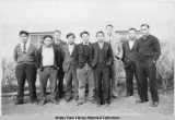 Group portrait at BIA school, Hoonah, Alaska ca. 1940.