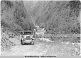 Richardson Highway.  Bear Creek Suspension Bridge, ca. 1929.