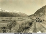 Lowe River.  Copper River - Keystone Canyon Tour via Valdez Transfer & C.R. & N.W. Ry.