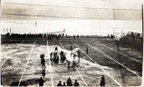 [Football game on ball field, Treadwell, Alaska.]
