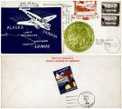 "[""First-Day Cover"" commemorating the first flight from Juneau to Fairbanks, postmarked May 3,..."