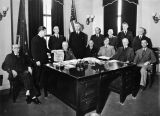 [Governors Office, Juneau, Alaska. Those that took an active part in the inauguration (of the)...