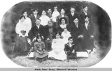 The families that lived in the cottages at Totem Park, Sitka, ca. 1912.