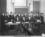 "Group of Eskimo and Indian ""Electronic Trainees"", while visiting Washington, D.C. in..."