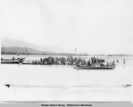 Potlatch Dance on Chilkat River Alaska. 1895.