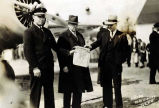 Inaugurating Air-Mail Juneau to Fairbanks.  1938.