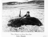 Father Hubbard and Alaska Brown Bear, Alaska Peninsula.