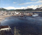 [Color photo of harbor at Seward, pre 1964 earthquake.]