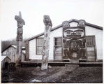 Totems, Chief Shake's House, Fort Wrangell.