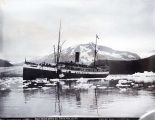 Steamer Queen taking ice, Takou Inlet, Alaska.