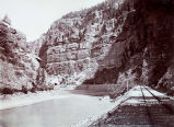 Near the Central Tunnel, Canon of Grand River Col., C. R. Savage Photo, D. & R. G. R. Y.