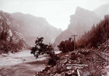 Scene in the Canon of Grand River, Col., D. & R.G. R. Y., C. R. Savage, Salt Lake.