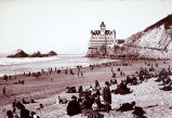 [View of Cliff House from beach.]