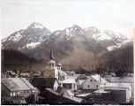 Sitka and Three Sisters Mountains.