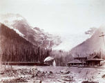 Glacier Hotel and Mountain on C.P.R.