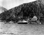 [Ferry leaving downtown Juneau.]