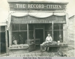 Home of THE RECORD CITZEN (Citizen) newspaper, Ruby, Alaska.  J. J. Filbin, Prop.  1916.